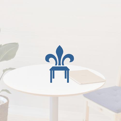 Fleur de lis design with the title 'Logo design for commerece street'