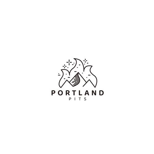 Portland logo with the title 'Logo design for Portland pits'