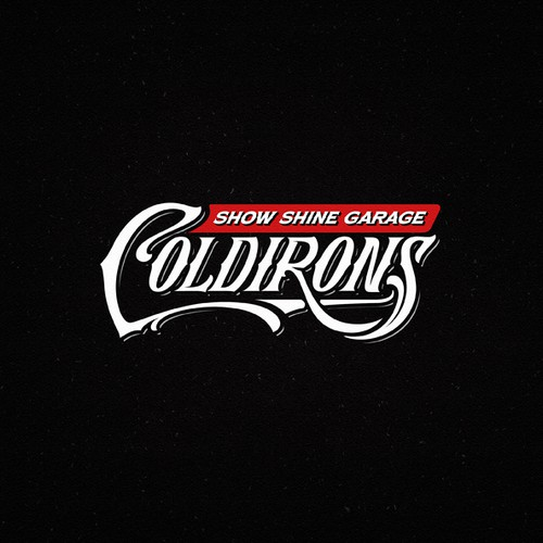 Garage design with the title 'COLDIRONS Show Shine Garage'