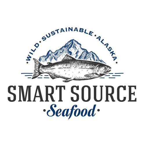 Earthy design with the title 'logo for Alaska seafood company'