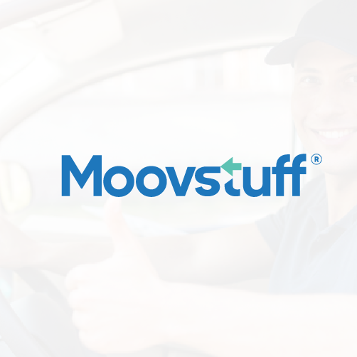 Arrow design with the title 'Logo designs for Moovstuff'