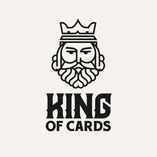 King design with the title 'playing card company logo'
