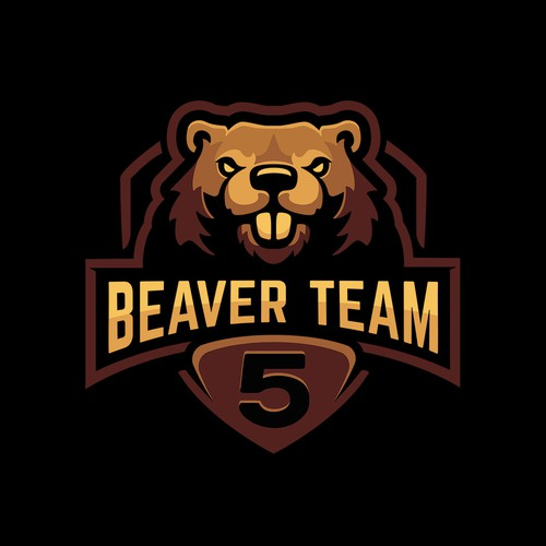 Sports apparel logo with the title 'Logo for Beaver Team Five.'