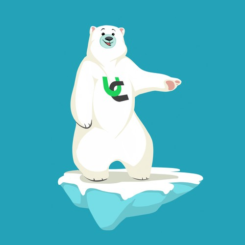 Polar bear design with the title 'polar bear mascot'