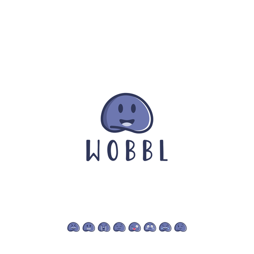 Emoji logo with the title 'Wobbl'