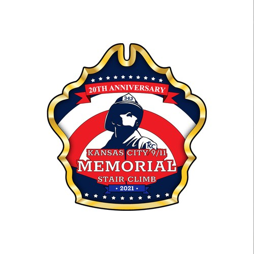 Firefighter design with the title 'American logo design for community event'