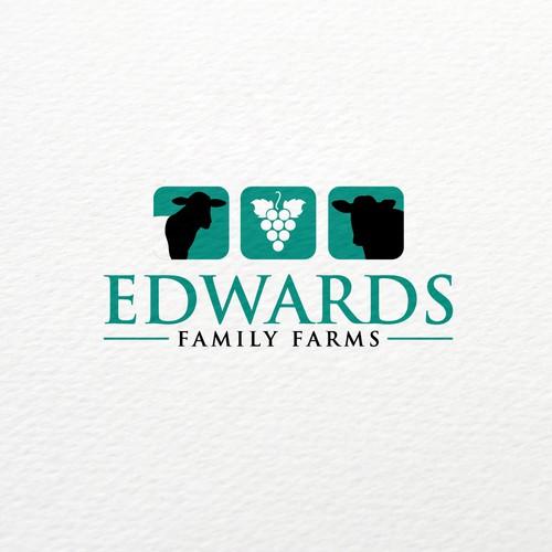 Graph logo with the title 'Family Farms Logo Design'