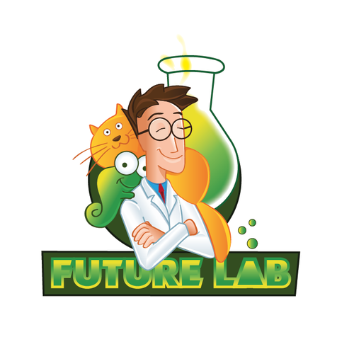 Pharmacy logo with the title 'logo concept for an animal pharmacy lab'