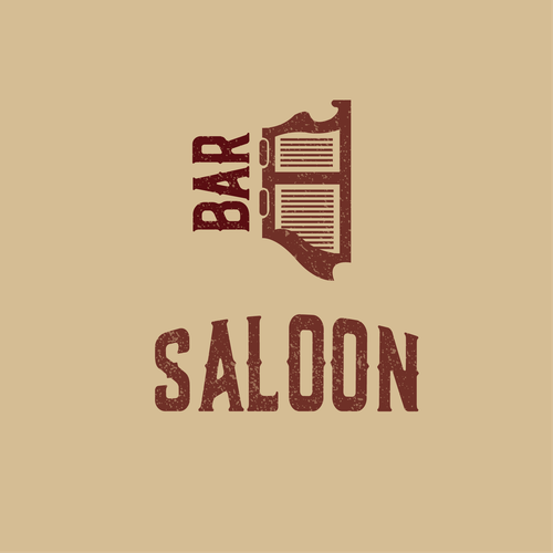 Country music logo with the title 'Logo for a bar saloon'