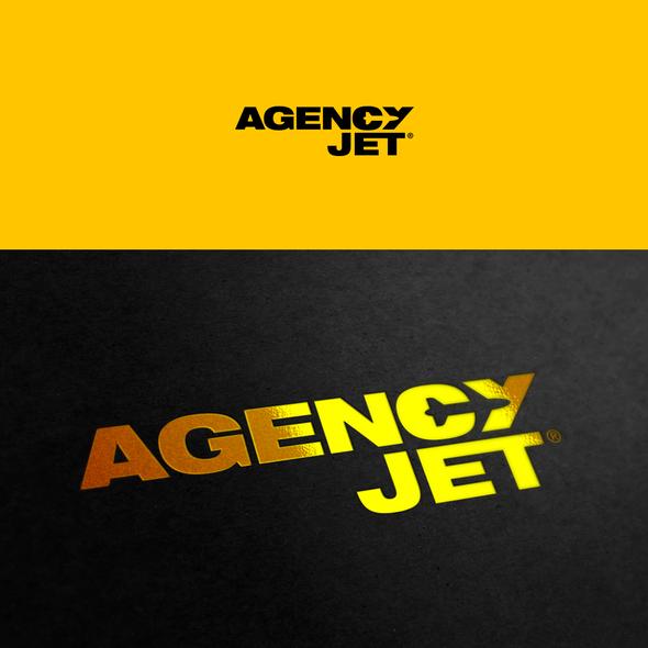 Jet logo with the title 'AgencyJet Logo'