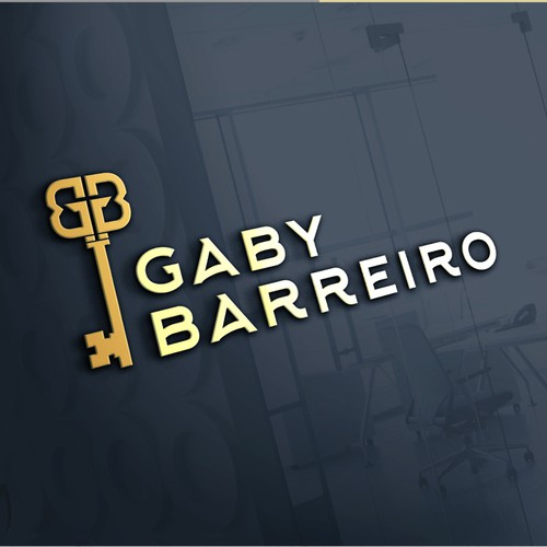 Real estate logo with the title 'Gaby Barreiro'