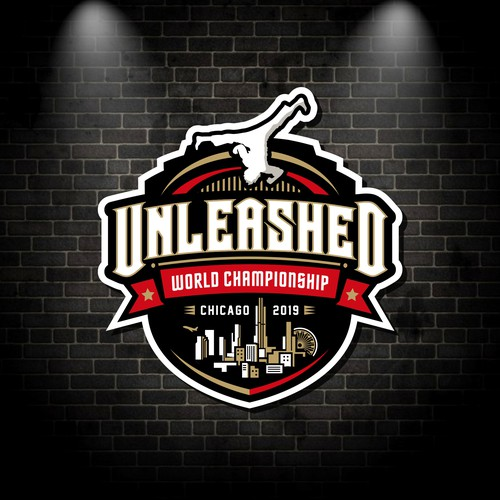 Championship logo with the title 'Unleashed World Championship Logo'
