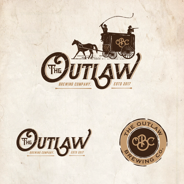 Western design with the title 'The Outlaw brewing Co.'