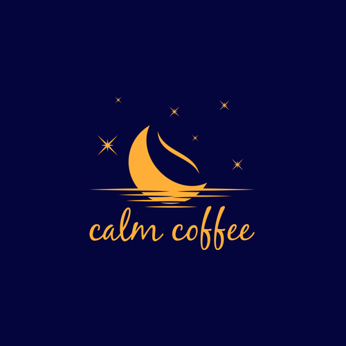 Sky logo with the title 'calm coffee'