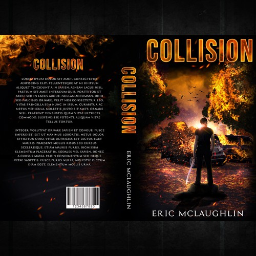 Urban fantasy book cover with the title 'Collision'