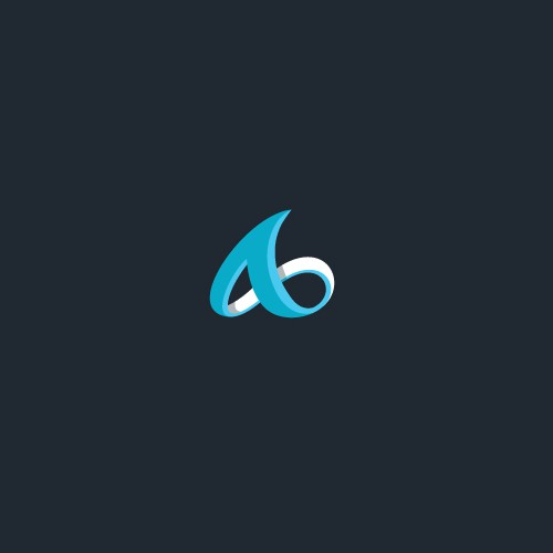 3D abstract logo with the title 'Modern abstract monogram'