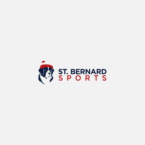 Winter logo with the title 'St. Bernard Sports Logo'