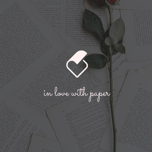 Combination logo with the title 'In love with paper '