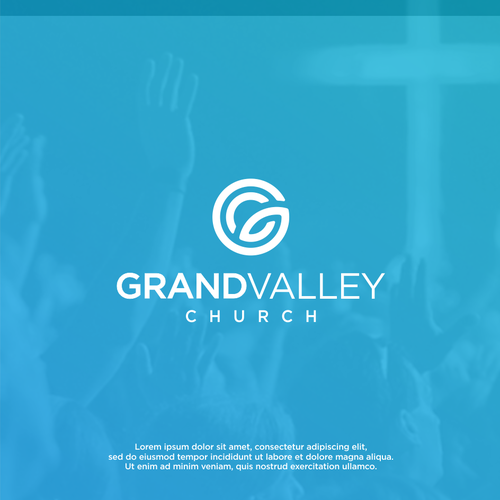 Cathedral logo with the title 'Logo for Grand Valley Church'