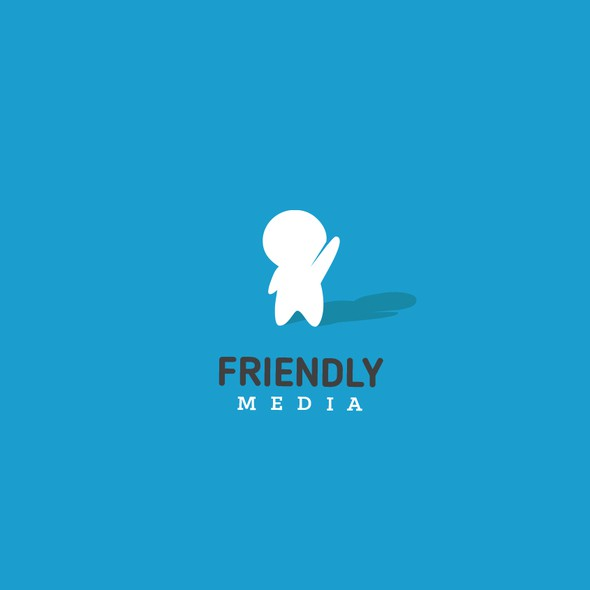 Guy logo with the title 'Friendly Media Logo'