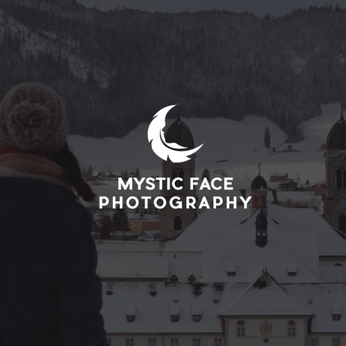 Mystical logo with the title 'Logo design for a photography website'