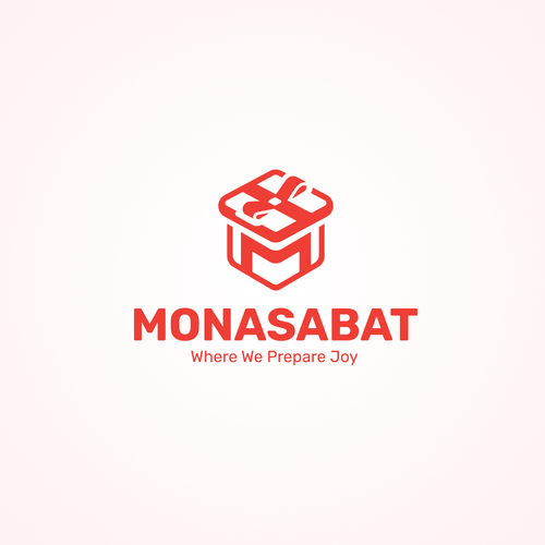 "Graduation logo with the title '""MONASABAT"" The logo for the application that helps in organizing various events, such as: birthdays - weddings - anniversaries - baby showers  - graduations.'"