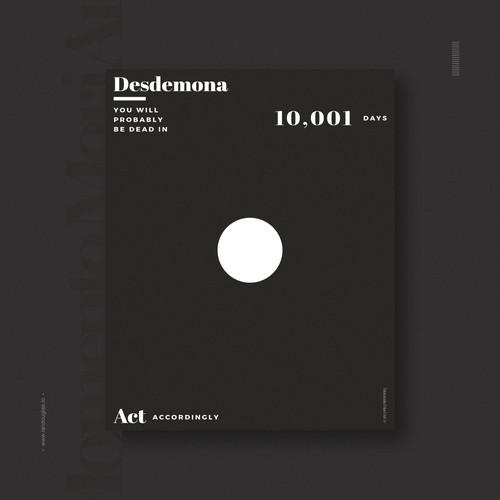 Life design with the title 'Minimalist design concept for Momento Mori'