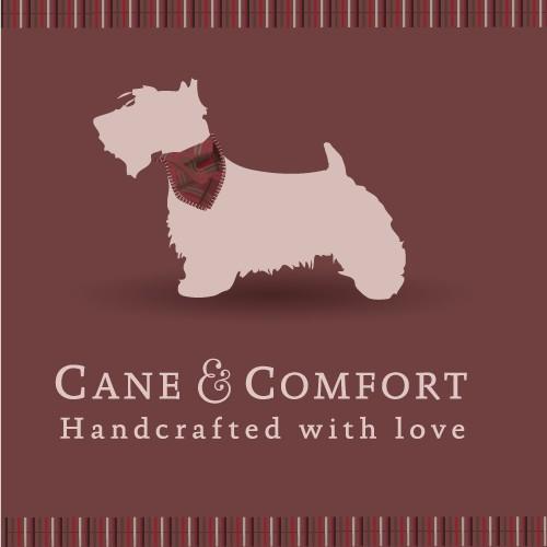 Bandana logo with the title 'Logo dog bandanas brand'