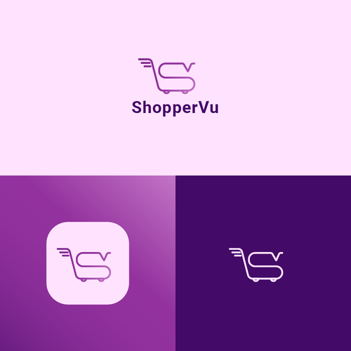 Shopping cart logo with the title 'Shopping Logo Concept'