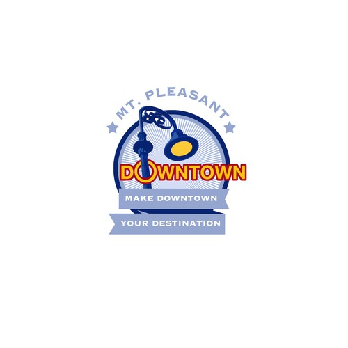 Downtown design with the title 'Logo for Mt. Pleasant Downtown'