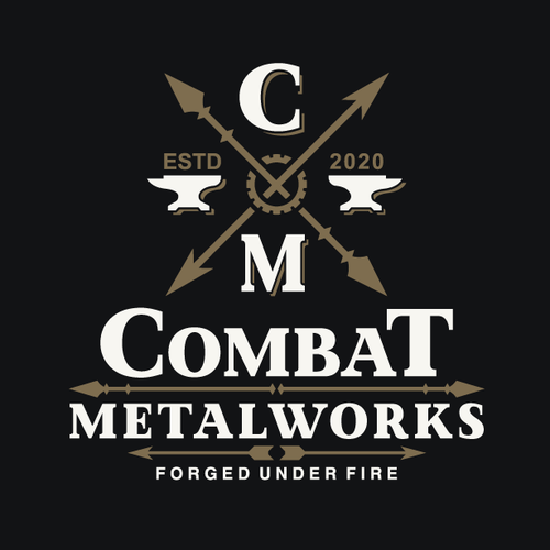 Combat logo with the title 'Logo design for metal working company'