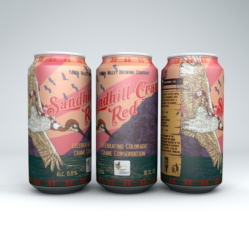 Beer packaging with the title 'Beer Can Art Featuring Local Bird'