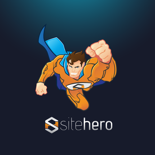 Fly logo with the title 'Superhero Mascot for SiteHero'