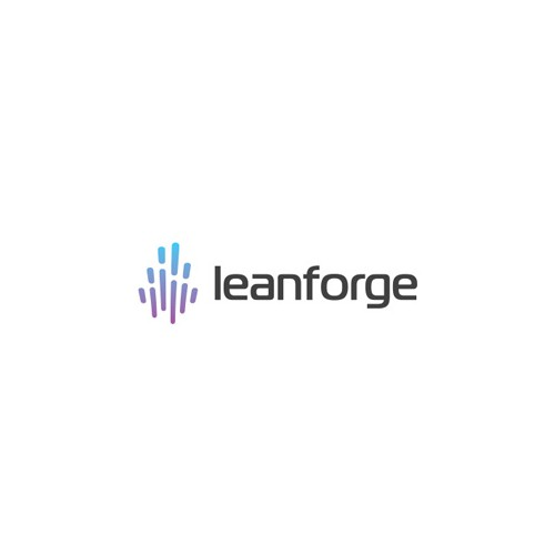 Flaming logo with the title 'Leanforge technologies'