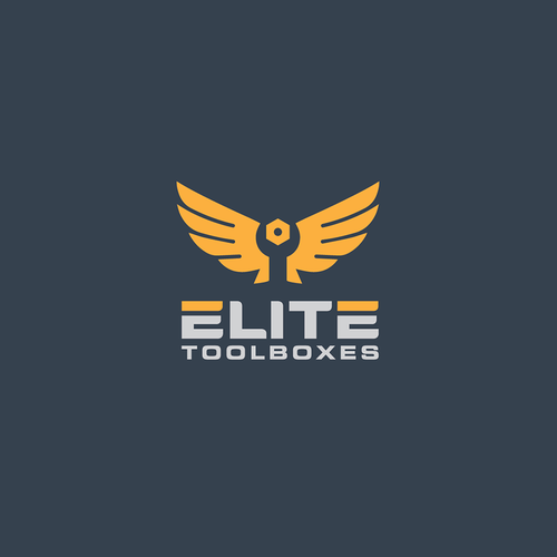 Eagle design with the title 'Clever and bold elite logo'