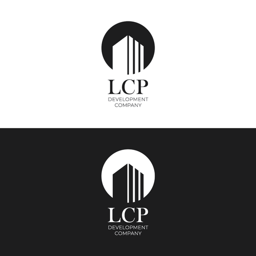Formal logo with the title 'Logo Concept for LCP Development Company'