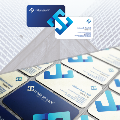 Business card for artificial intelligence technology company
