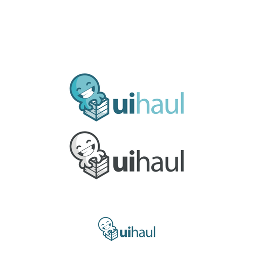 Cute animal design with the title 'Octopus concept for uihaul logo'