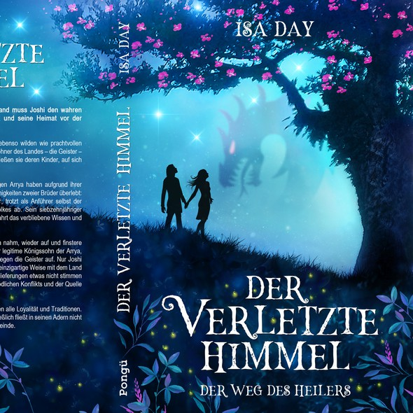 Tree book cover with the title 'Der weg des Heilers, Book 1 - Young adult fantasy series.'