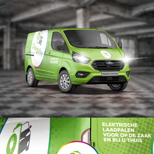Ford design with the title 'Car design for installer vehicle off EV Charging systems'
