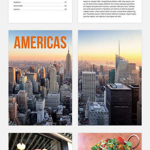 Place design with the title 'Food guide'
