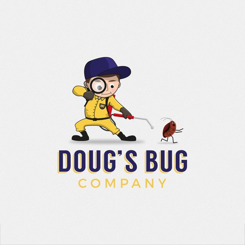 Bug design with the title 'Logo for Doug's Bug Company'