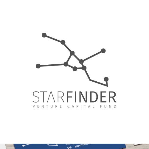 Constellation design with the title 'Constellation-inspired logo for a tech startup company'