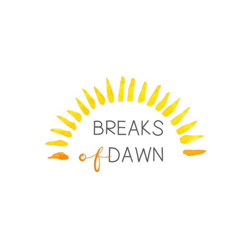 Painter logo with the title 'Breaks of Dawn for a mommy blog'