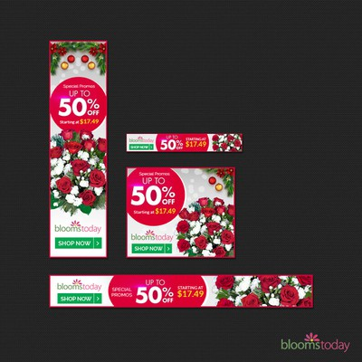 Banner ad Set for blooms today