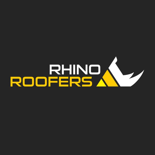 Rhino brand with the title 'Roofing Company Logo'