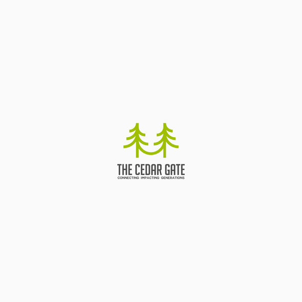 Cedar logo with the title 'Logo proposal for Cedar Gate'