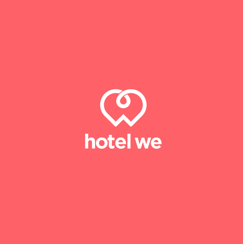 Hotel brand with the title 'Hotel We'