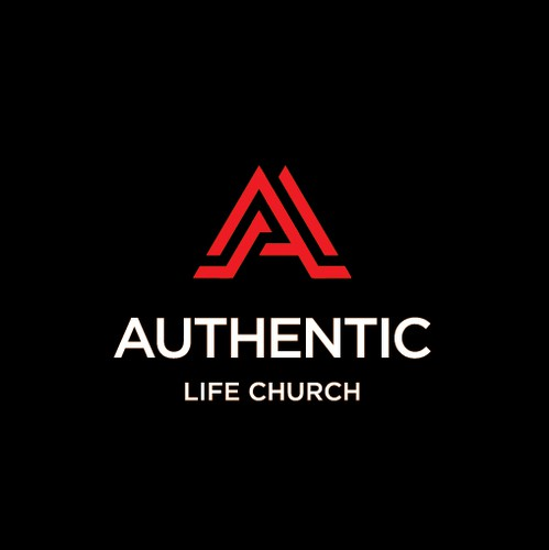 Religious design with the title 'Authentic Life Church'