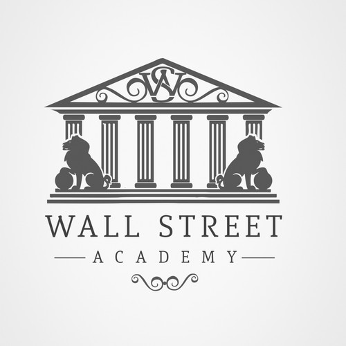 Platform logo with the title 'WALL STREET ACADEMY'